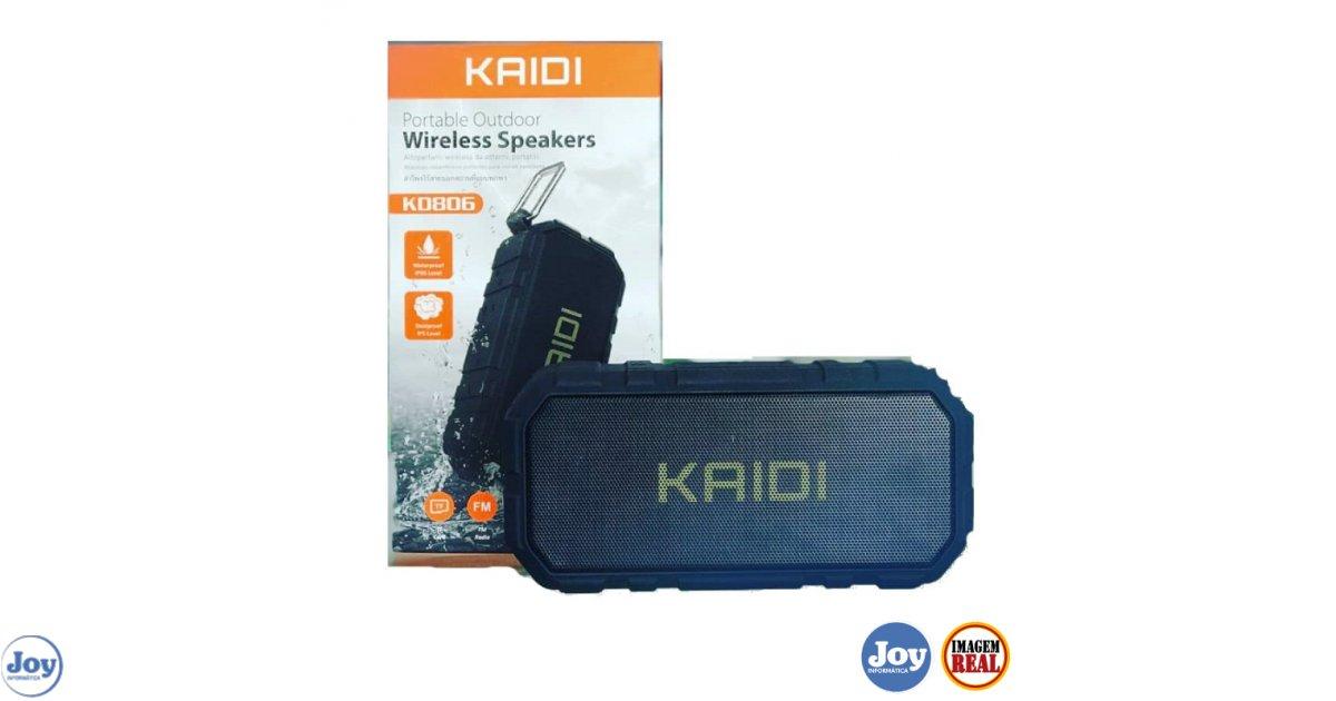 Caixa de Som Wireless Portátil KD806 S/ Fio - Kaidi