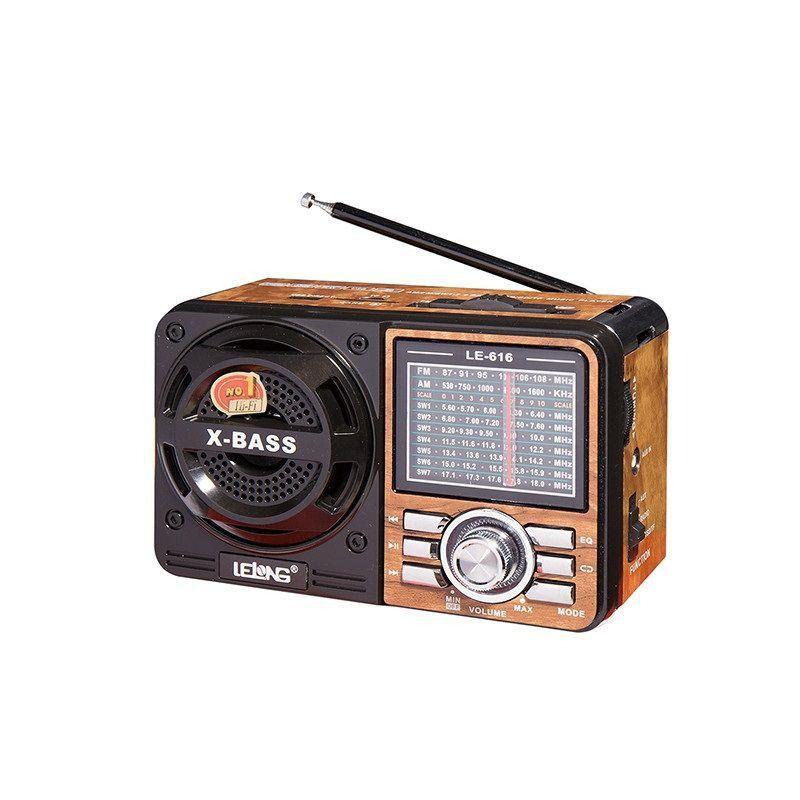 Caixa Som Portátil Retrô Rádio Am-Fm Lelong LE-616