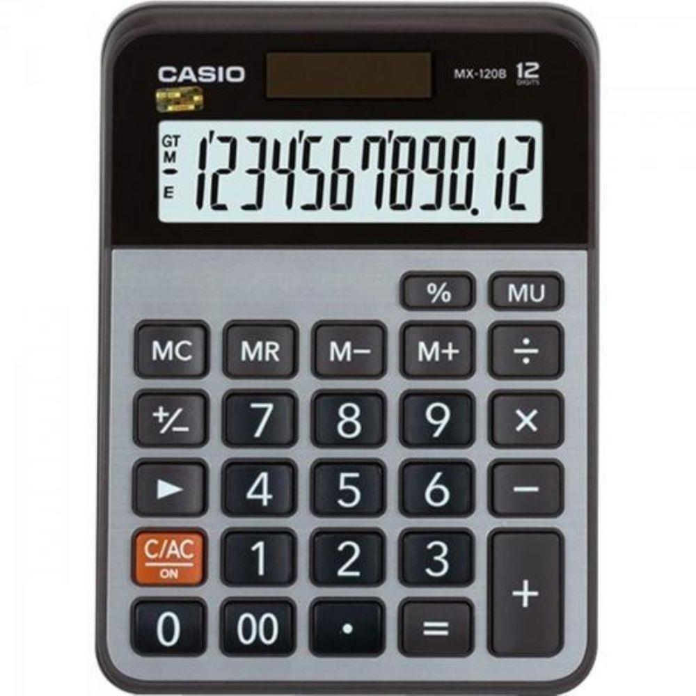 Calculadora Básica De Mesa 12 Dígitos Com Amplo Visor  Casio  Mx-120B