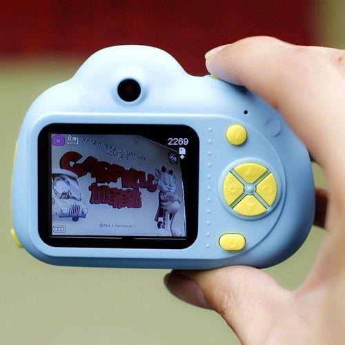 Câmera Digital Fotografica C/ Flash Kids Criança Selfie Hd K2 Azul