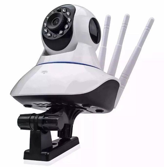 Câmera Ip Dvr Wifi Alarme Gravador Rj45 Visão Noturna Onvif kp-ca127