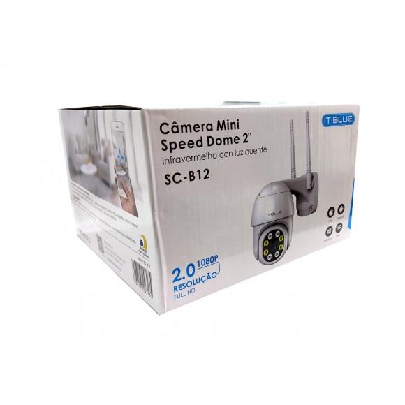 Câmera Ip Speed Dome 2 Wifi Prova Dágua  Noturna It Blue