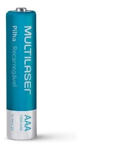 Carregador De Pilhas Aa Aaa + 8 Pilhas - Multilaser - CB093