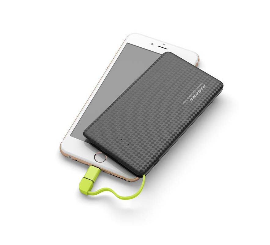 Carregador Portátil Power Bank 5000mah Pineng Slim