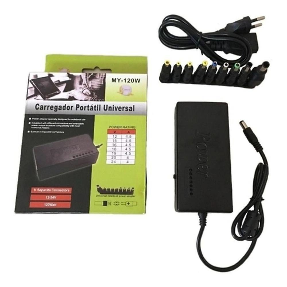 Carregador Portátil Universal - Power Adapter My-120W