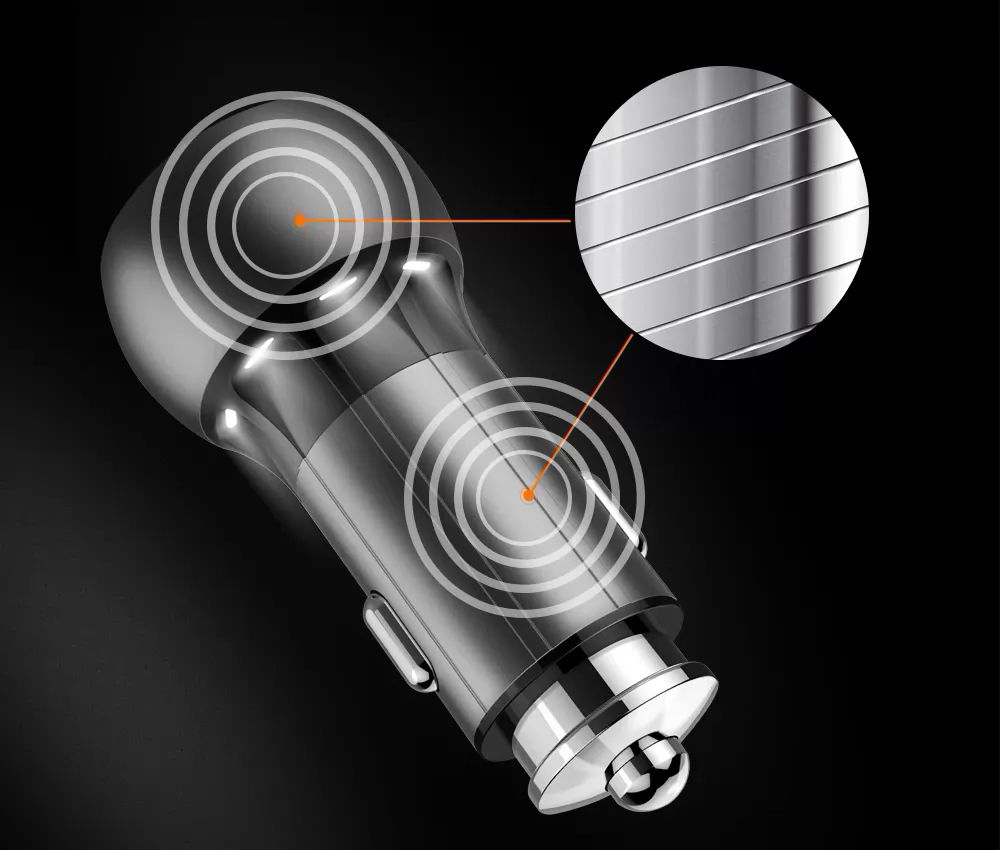 Carregador Tipo-C Veicular Turbo Android - 2 Usb Metalico LDNIO 36w
