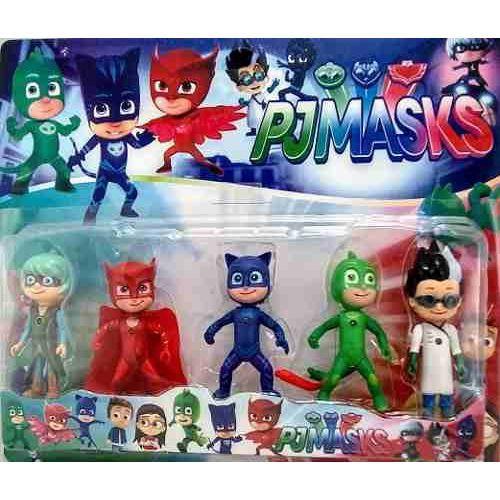 Coleção Kit 5 Pjmasks Luz De Led Articulado Heroes