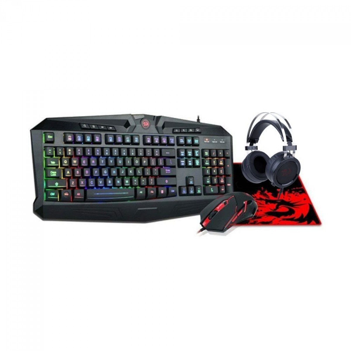 Combo Gamer S112: Teclado, Mouse. Headset e Mousepad - Redragon