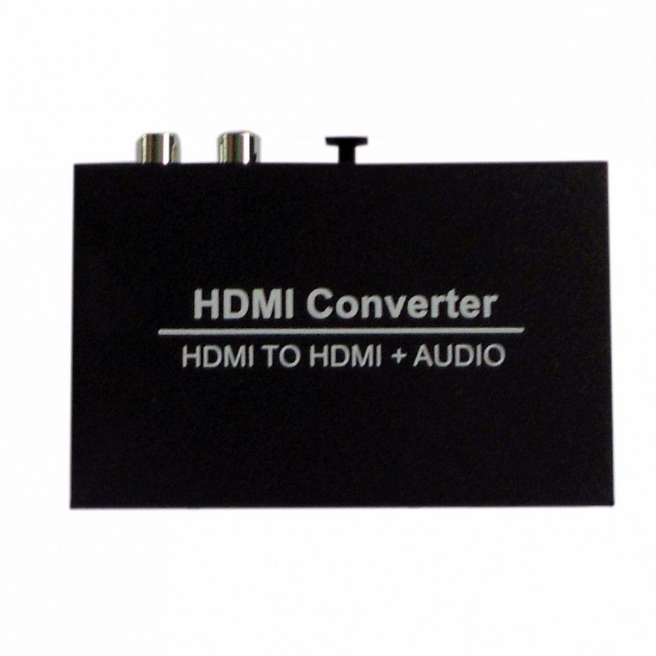 Conversor Adaptador Hdmi X Hdmi + Saída Áudio Rca - Extrator de Audio