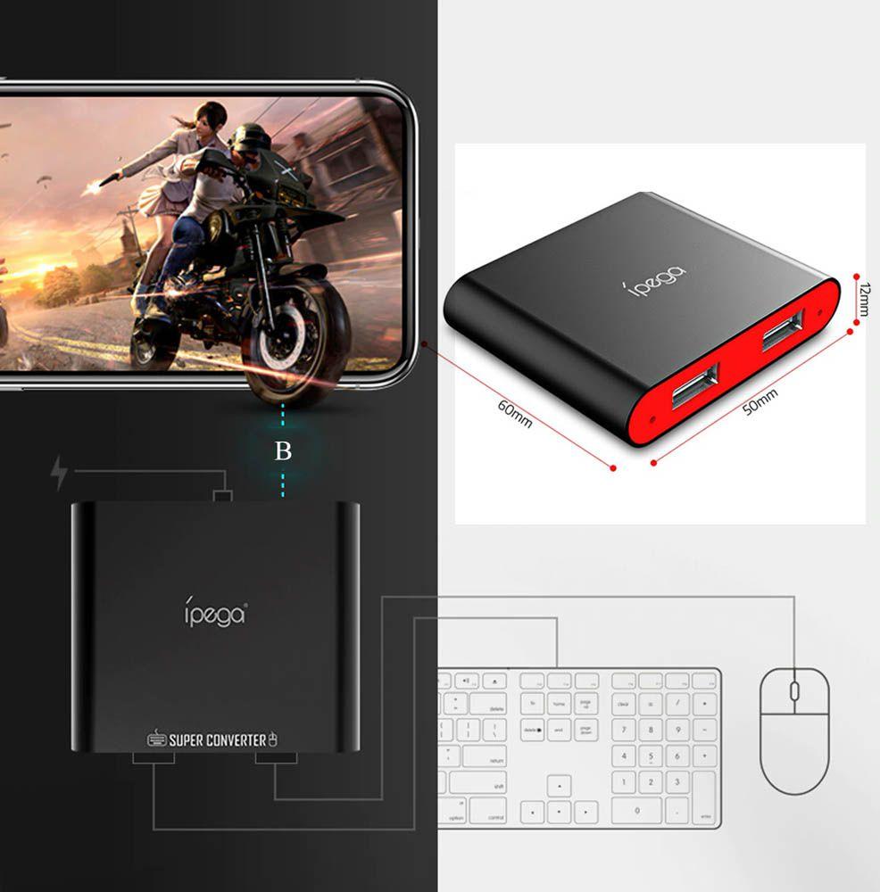 Conversor De Teclado e Mouse Para Smartphone Ipega Pg-9116