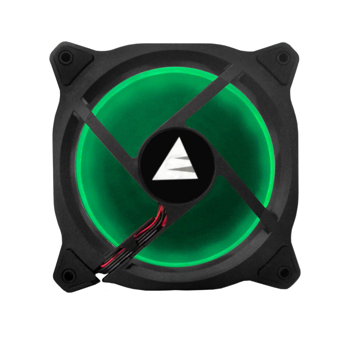 Cooler Fan Verde LED Ring Para Gabinete Bluecase