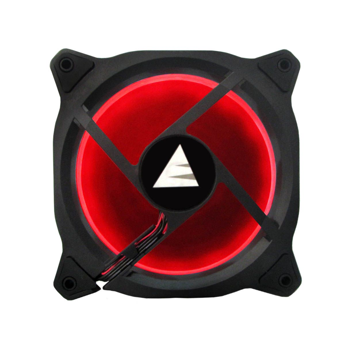 Cooler Fan Vermelho LED Ring Para Gabinete Bluecase