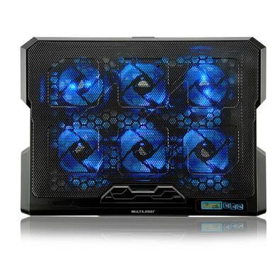Cooler Para Notebook Com 6 Fans LED Azul Hexa Multilaser