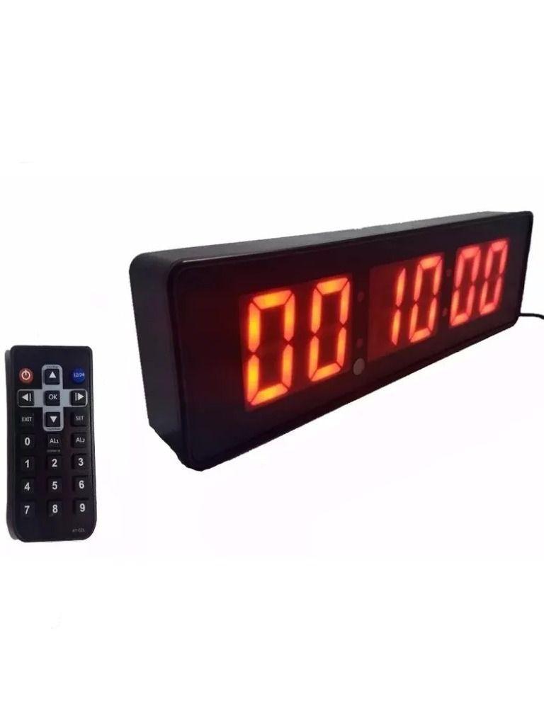 Cronometro Relógio Led Digital Parede Mesa C/ Controle