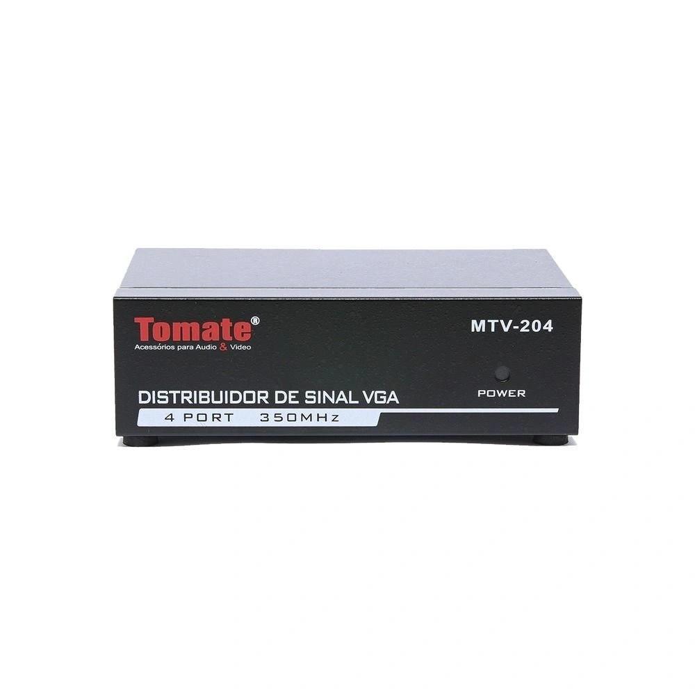 Distribuidor de sinal Vga 1x4 350 Mhz 1920x1440 Tomate Mtv-204