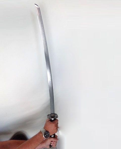 Espada Katana Grande Samurai Ninja Cosplay 100cm - Suporte Incluso