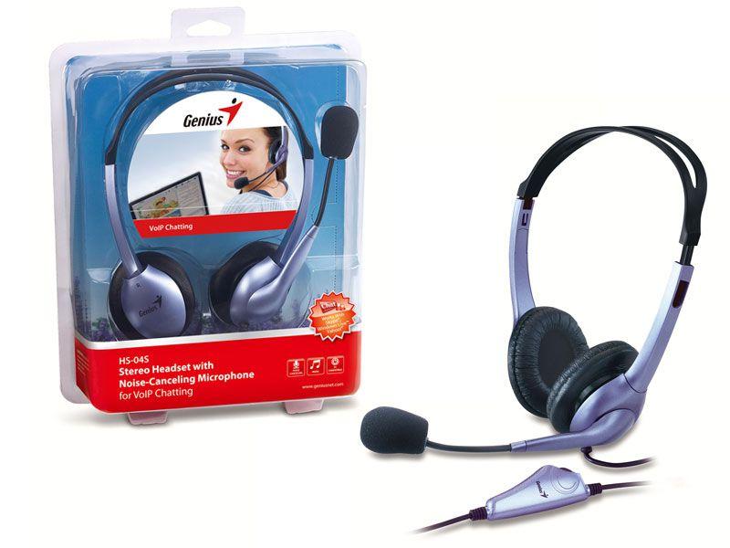 Fone com Microfone Genius Headset Gamer HS-04S