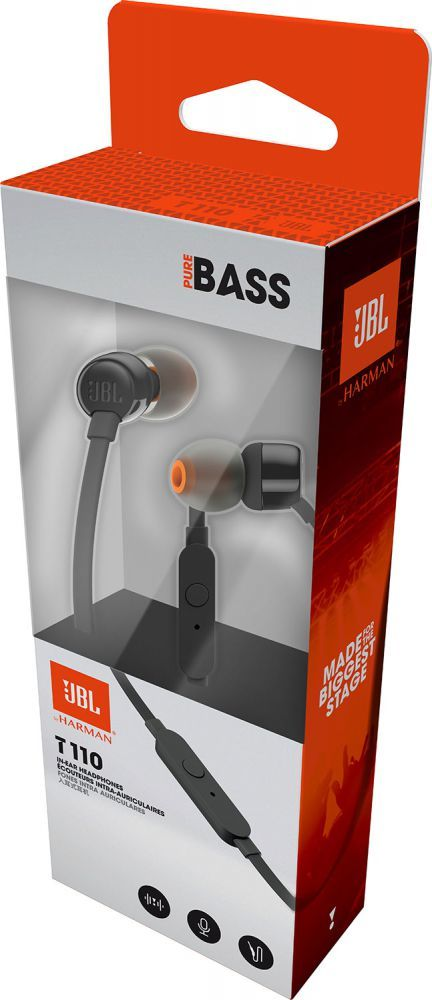 Fone de Ouvido com Fio JBL Tune 110 - T110
