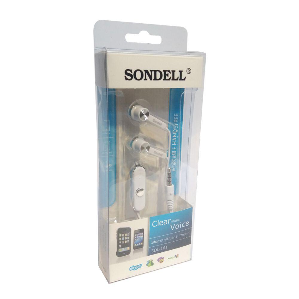 Fone De Ouvido Intra Auricular Com Microfone Sdl-181 Sondell