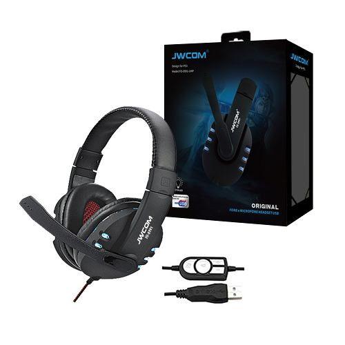 Fone Headset Gamer Usb Com Luz Led Jwcom Fo-0991