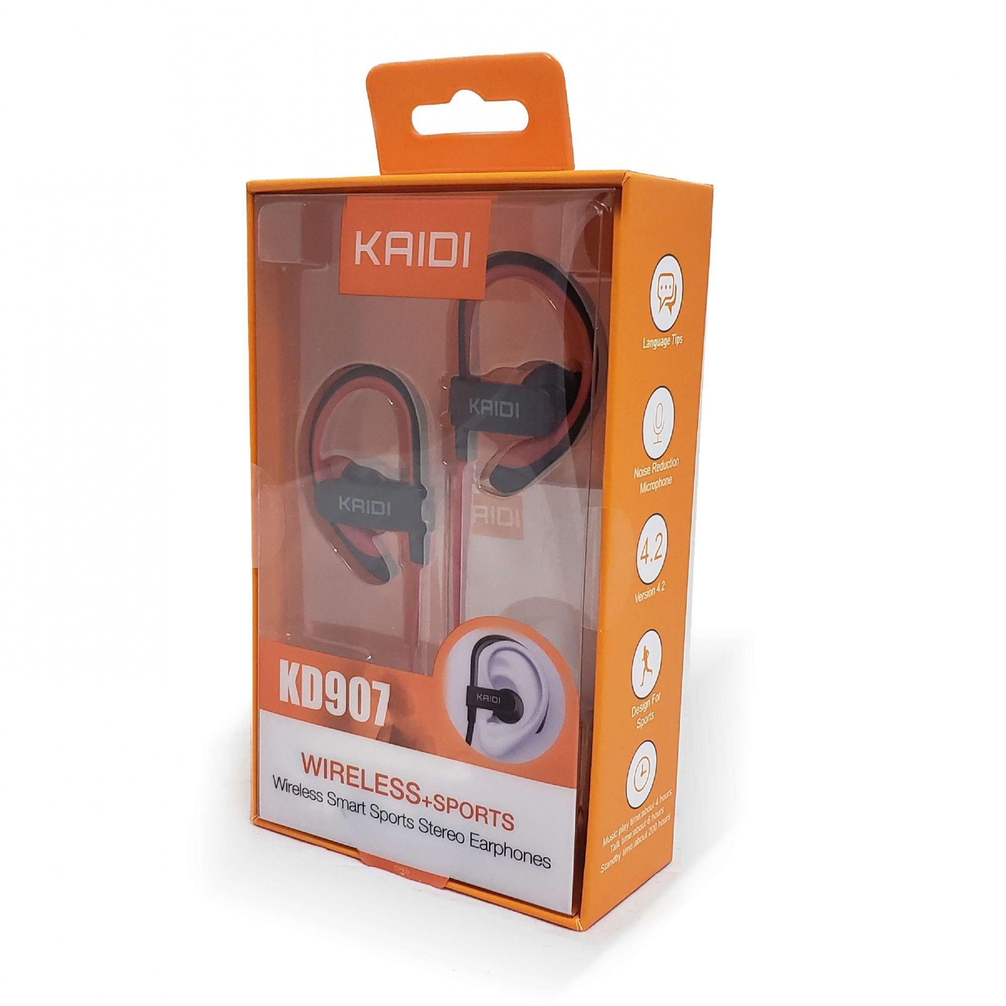 Fone Sem Fio Bluetooth Para Esportes e Corrida Kaidi KD 907