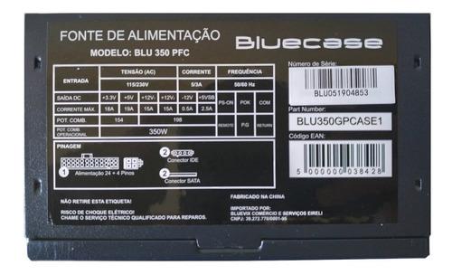 Fonte Bluecase 350Ww pfc Ativo BLU350PFC