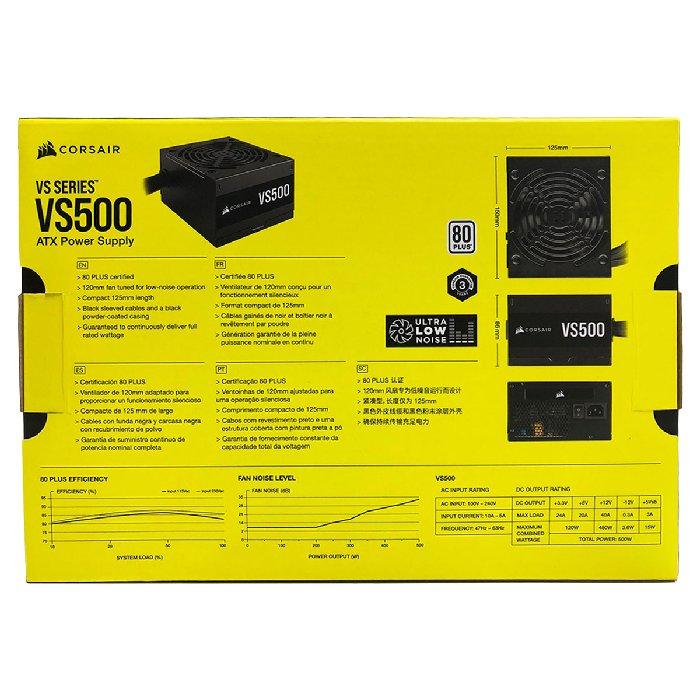 Fonte de Alimentação ATX VS500 Power Supply - Corsair