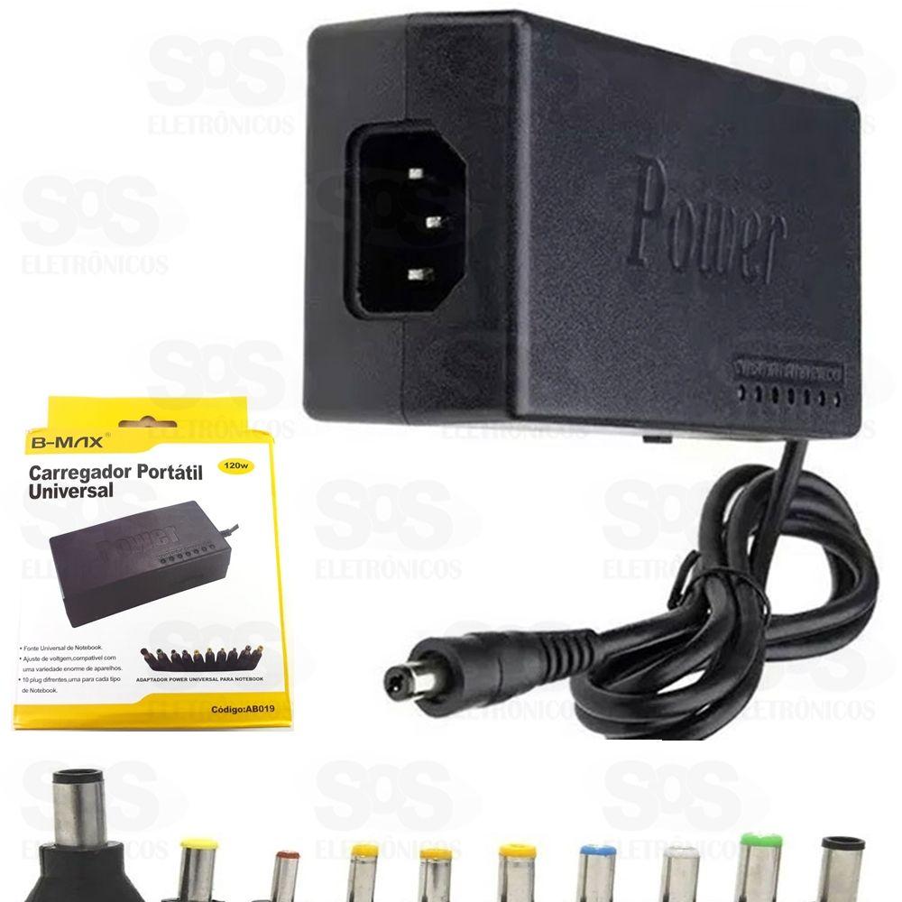 fonte universal carregador portátil com 10 conectores 12-24v 120w ab019