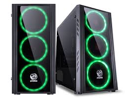 Gabinete Gamer Saturn com LED Verde - Pcyes