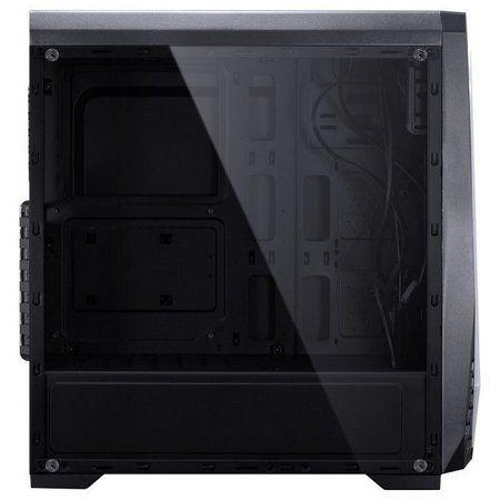 Gabinete Gamer Vinik Lynx RGB, Mid Tower, Latreral Acrílico, Black, S-Fonte