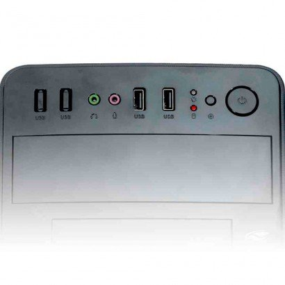 Gabinete Micro-ATX MT-24V2BK com Fonte 200W - C3Plus