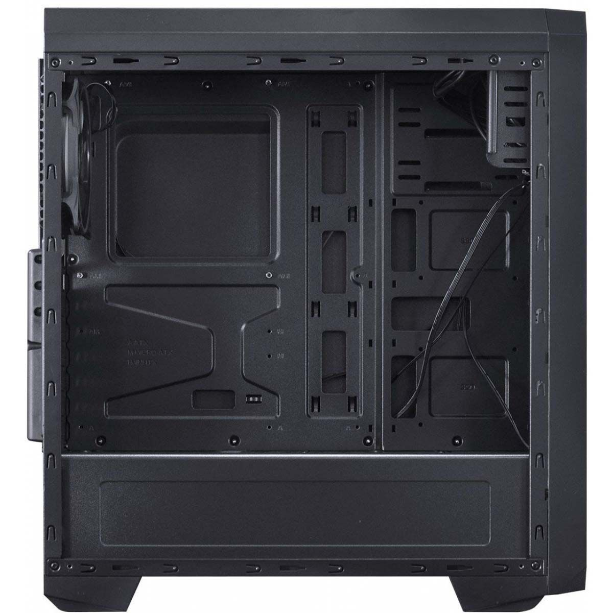 Gabinete Mid Tower Nova Lateral Acrílico Fan Led 7 Cores