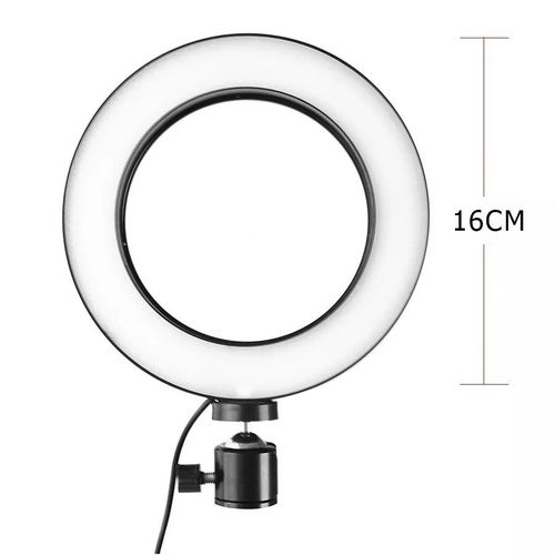 Iluminador De Led Com Tripe Ring Light Usb 16cm