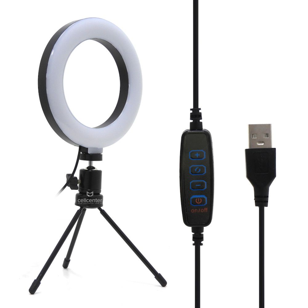 Iluminador Ring Light Led Selfie Com Cabo Usb15w  26cm Mlg - 064