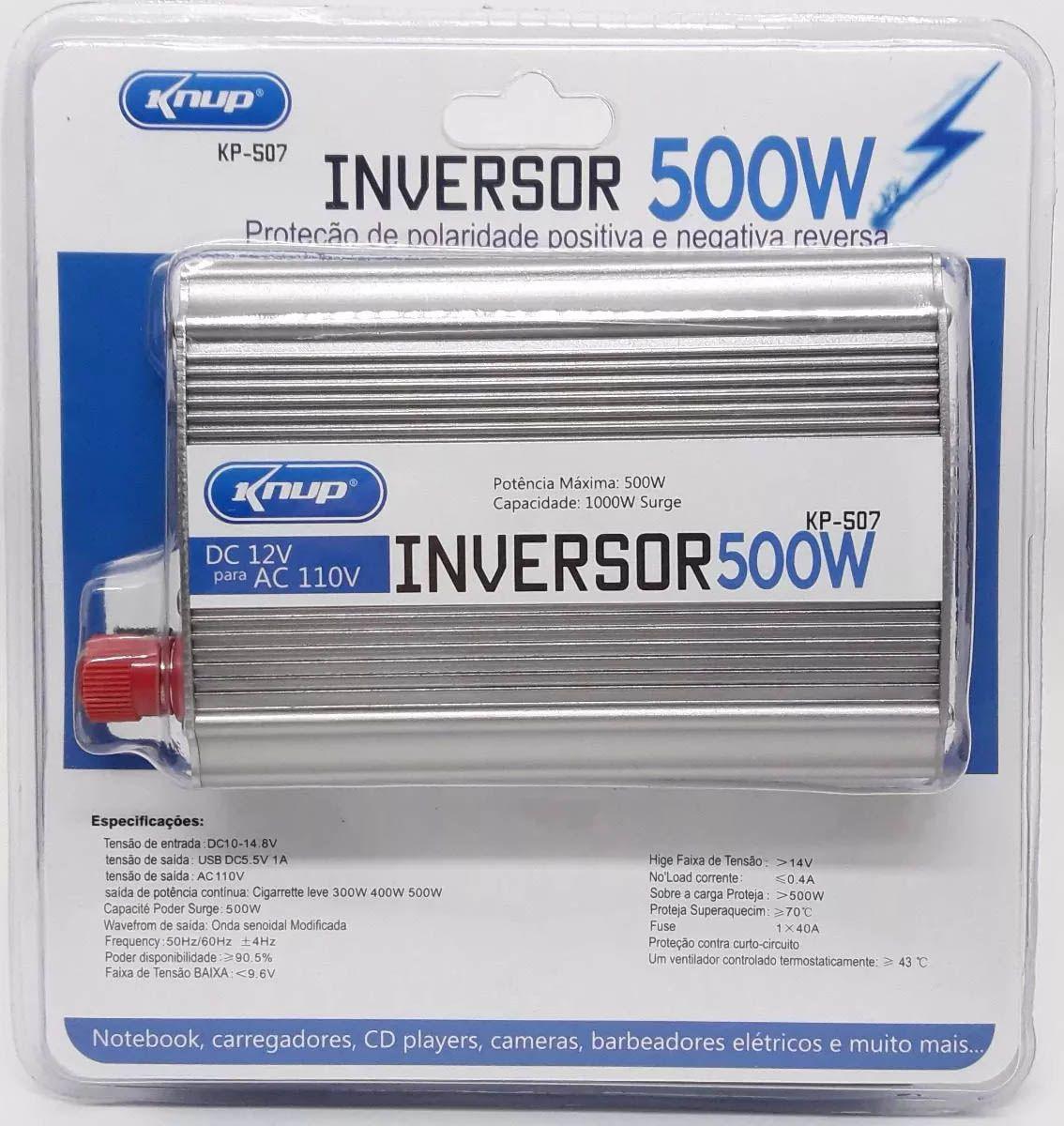 Inversor Conversor 12v - 110v 500w Transformador Veicular- Knup kp-507