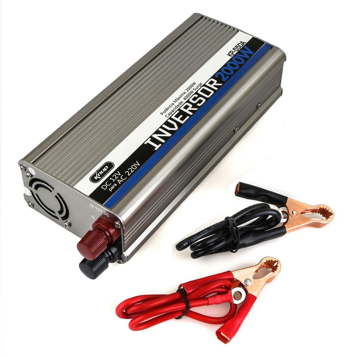Inversor de Tensão Veicular High Power KP-550A 2000W 220V - Knup
