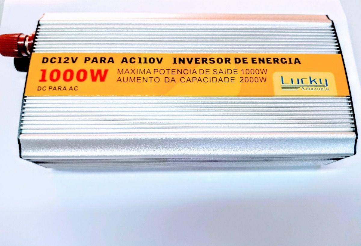 Inversor Veicular 1000w Conversor Transformador 12v 110v