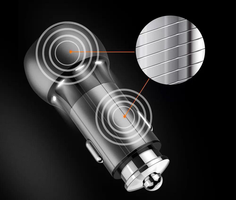 Kit 3 Carregadores Tipo-C Veicular Turbo Android - 2 Usb Metalico LDNIO 36w
