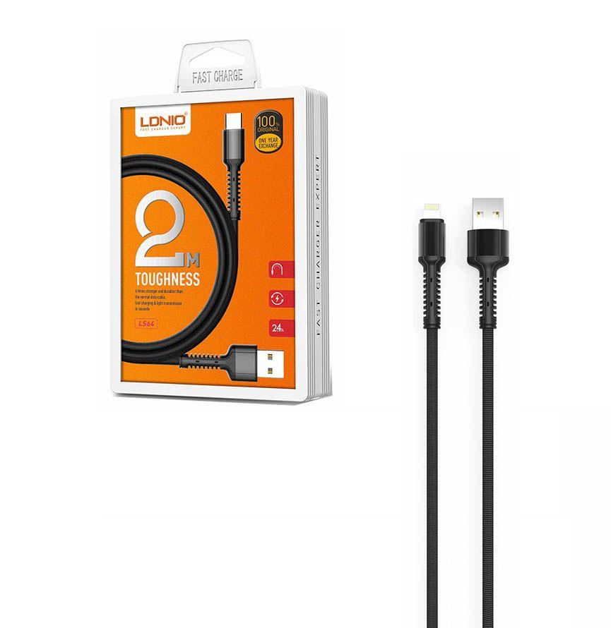 Kit 5 Cabos Iphone Lightning Reforçado USB 2 Metros LDNio