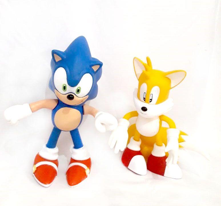KIT Boneco Sonic + Boneco Tails Coleção