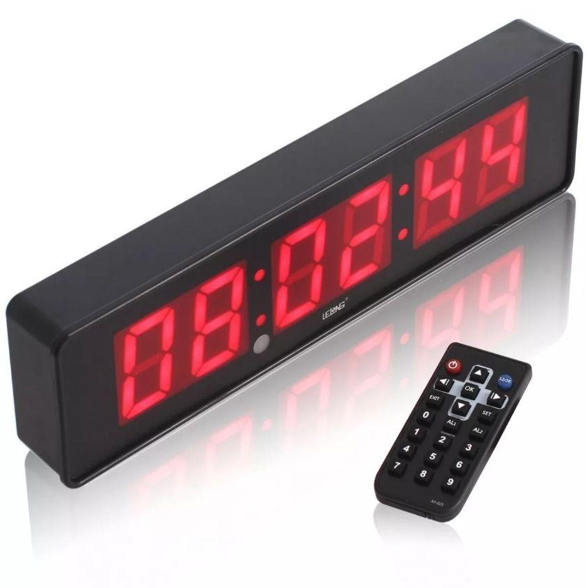 Kit com 4 Cronometros Relógio Led Digital Com Controle LE2113