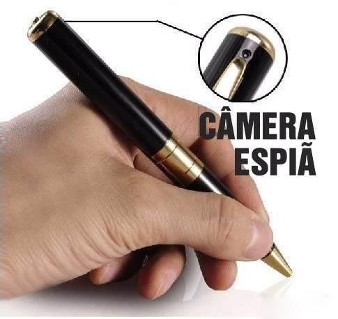 Kit Espião - Pendrive + Caneta  + Chaveiro Micro Camera - Filma E Tira Fotos