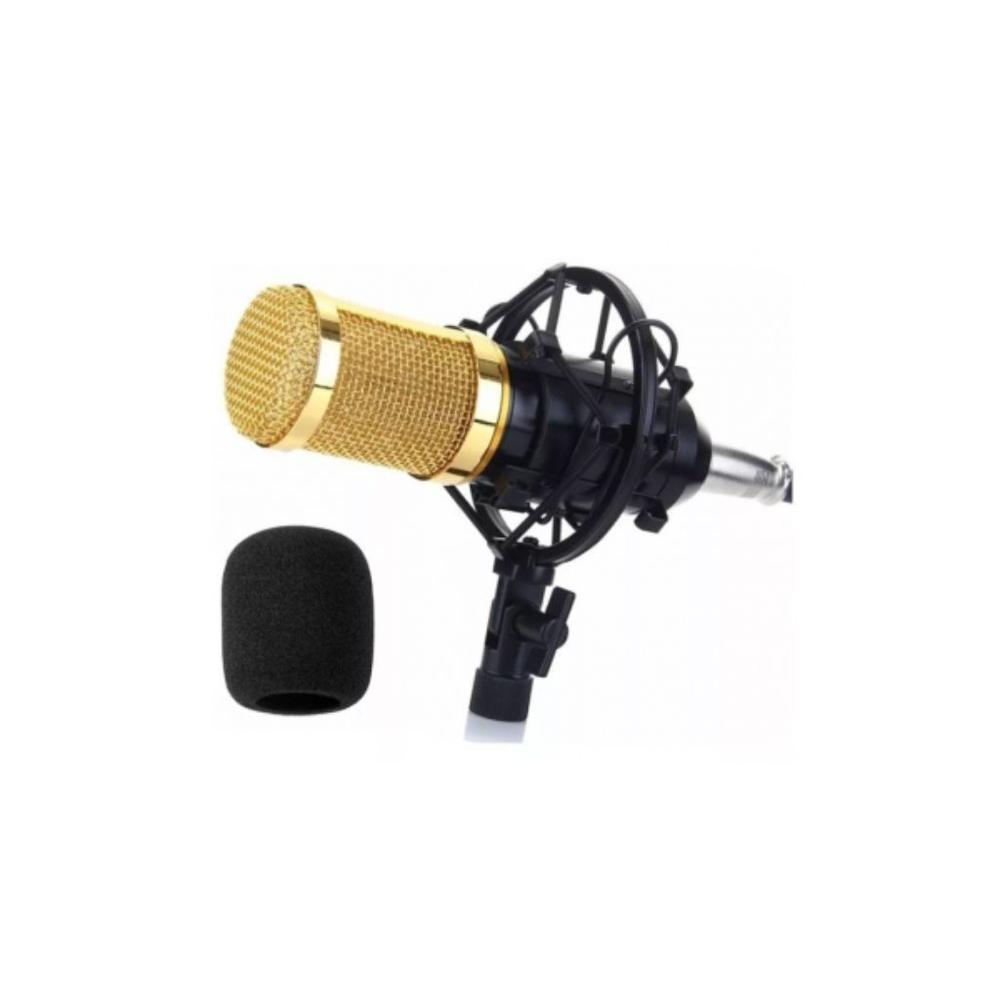 Kit Microfone Lelong Le-914 Condensador Braço Articulado