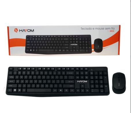 Teclado e Mouse Sem Fio 1200 Dpi TC3211 Preto - Hayom