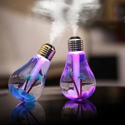 Lampada Umidificador Climatizador Aromatizador De Ar Luz Led