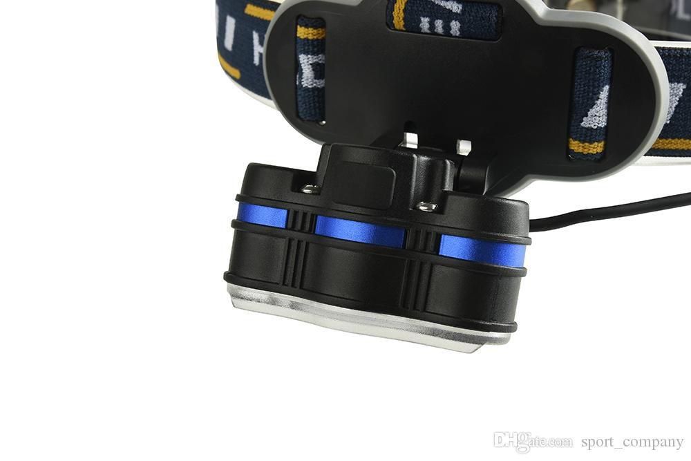 Lanterna Cabeça 5 LEDs Farol Recarregável Prova d´Água