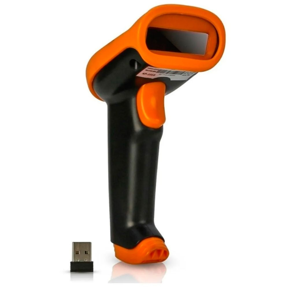 Leitor de Código de Barras Sem Fio a Laser Wireless USB 650nm Laser Knup - KP-1018