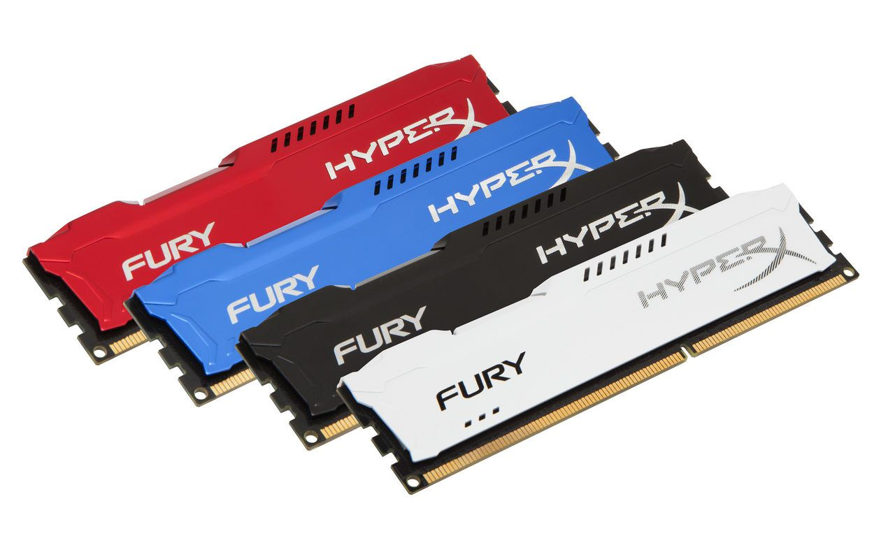 Memória 8Gb DDR3 1600mhz Gamer Hyperx Fury Kingston