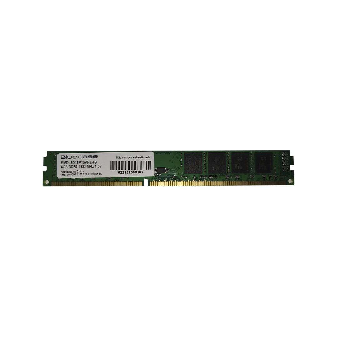 Memória Desktop DDR3 1333MHz 4GB -  Bluecase