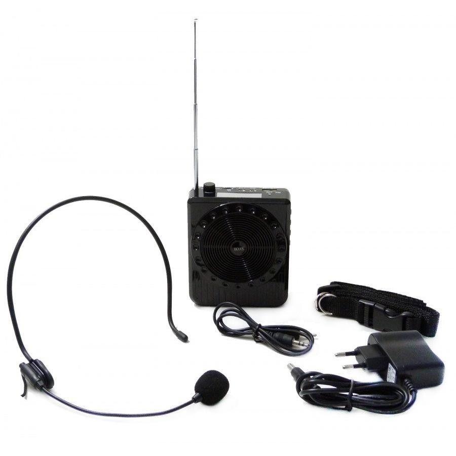 Microfone Com Mini Caixa Mp3 Usb Rádio - Amplificador de Voz